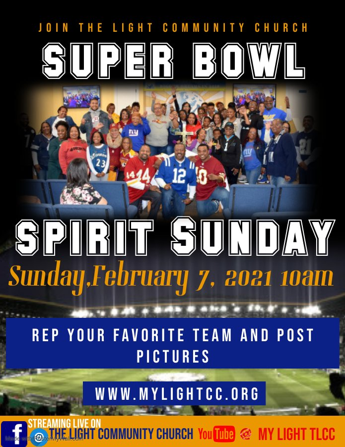 Super Bowl Sunday at the light community church